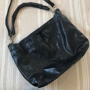 Handbags - Genuine Italian Leather Black Hobo Bag